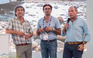 Da sinistra: Pippo Vetrano, coordinatore dell'animazione socioeconomica del Gal Sicani; Angelo Palamenghi, Direttore del Gal Sicani; Salvatore Sanzeri, Presidente del Gal Sicani